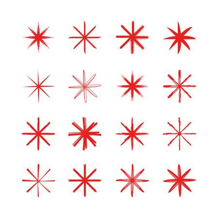 red asterisk symbols