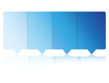 blue pin diagram template Illusztráció