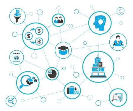 business startup and entrepreneurship network diagram