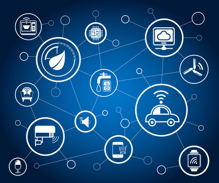 internet of things and network concept