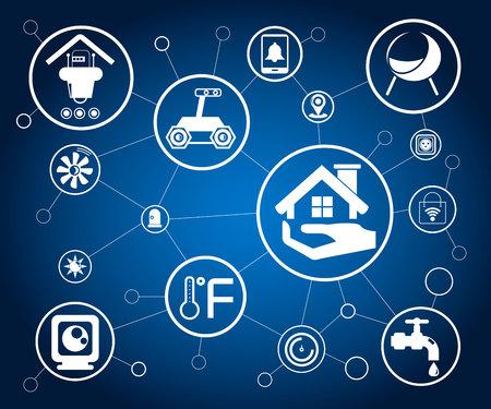 home automation, smart home concept