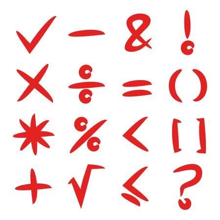 red math sign