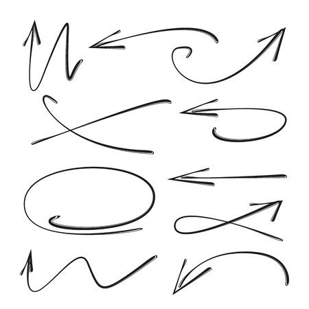 hand drawn arrows set  イラスト・ベクター素材