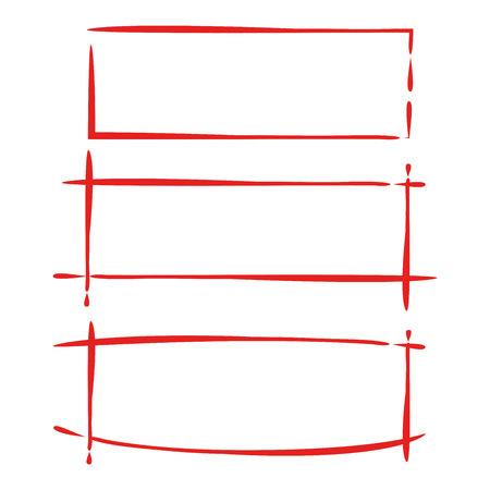 red rectangle frame Illustration