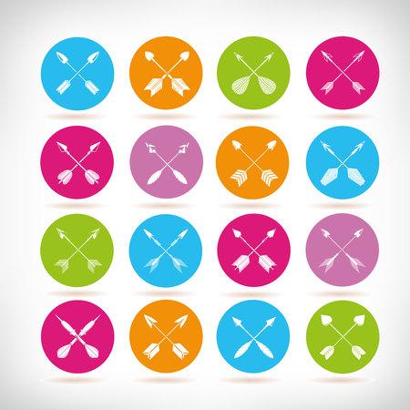 arrow icons, cross arrows