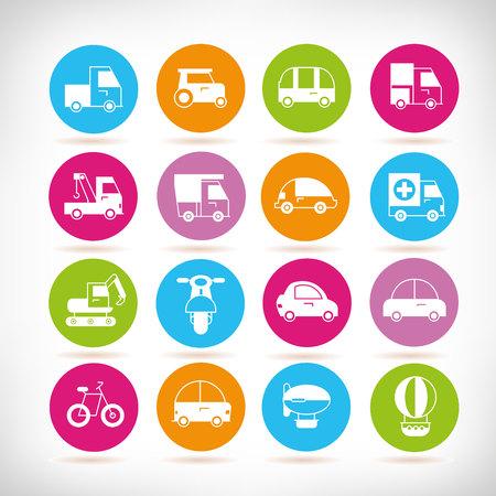 vehicle icons, transportation icons