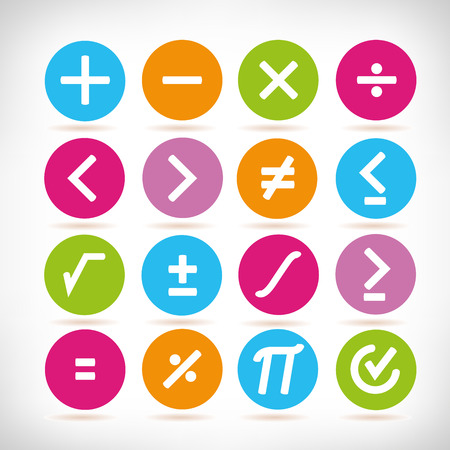 math icons Stockfoto - 102565357