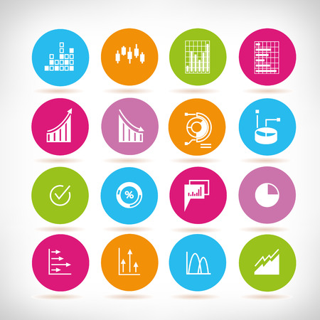 data chart, graph icons, data analytics icons