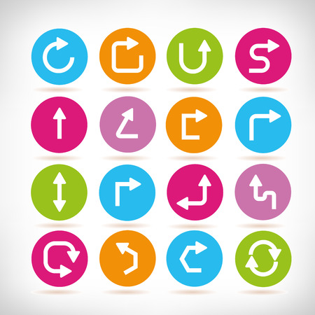 arrow icons Vectores