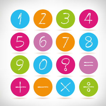 number icons Illustration