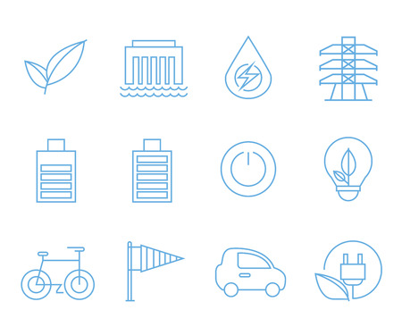 energy icons, outline icons