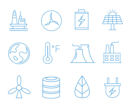 energy icons, outline icons Standard-Bild - 102616025