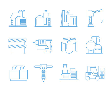 factory icons, tool icons