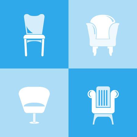 sofa pictogrammen, stoel pictogrammen