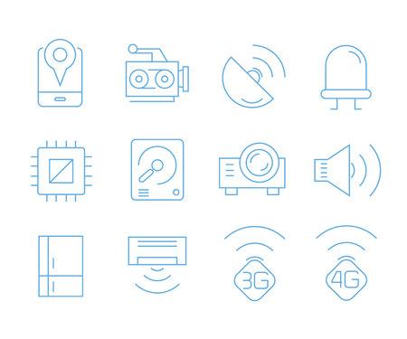 icônes de périphérique intelligent, icônes de gadget