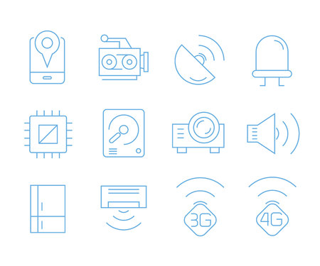 smart device icons, gadget icons