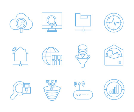 seo icons set, web and mobile UI