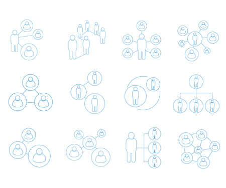 People network icons, connection icons Banque d'images - 102991175