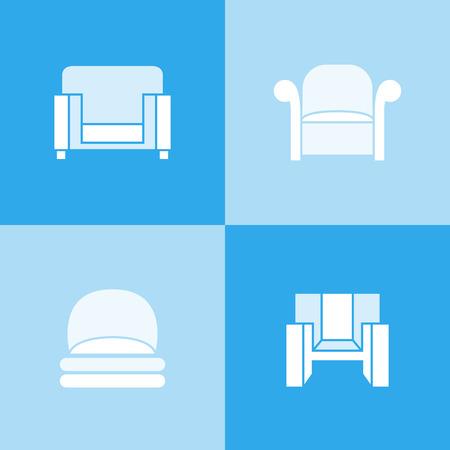 sofa icons, chair icons