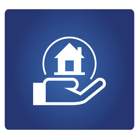 hand holding a home, real estate investment