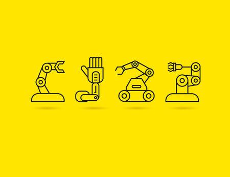 robot icons Vektorgrafik