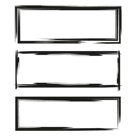 blank grunge frame set