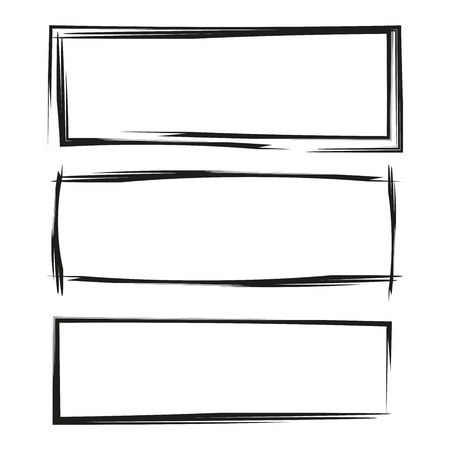 black grunge frame set Stock Vector - 108397716