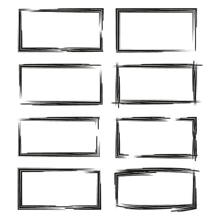 black grunge frame set Stock Vector - 108397793