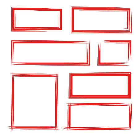 red frames Illusztráció