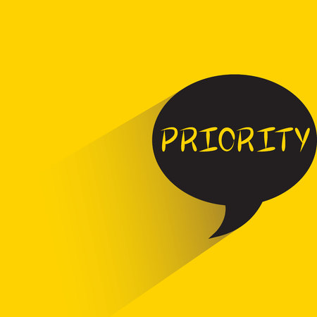 Priority sign isolated on yellow