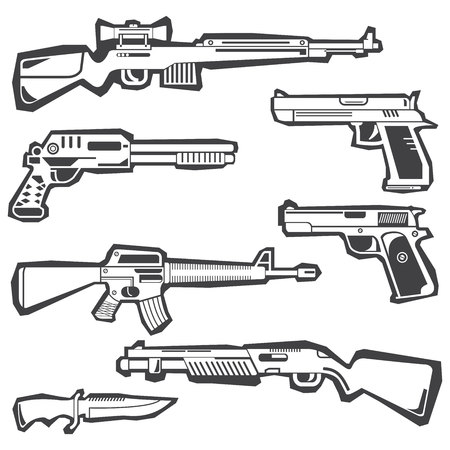 gun and weapon stickers