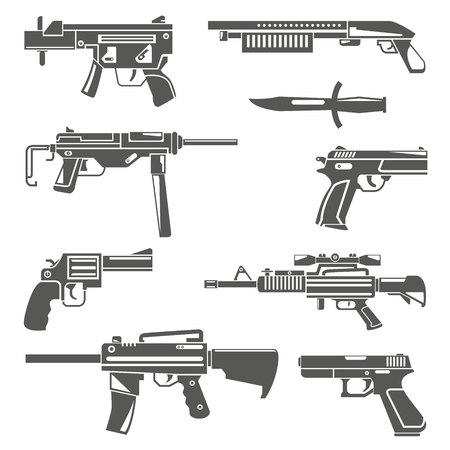 gun, weapon Vecteurs