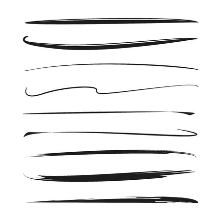 Set of grunge brushes Illustration
