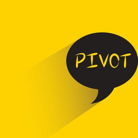 pivot word in speech bubble Illustration