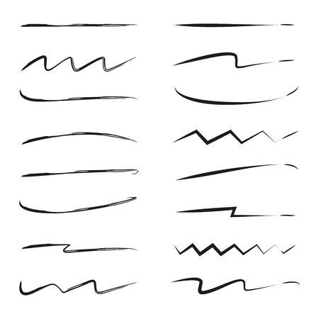 hand drawn brush lines 向量圖像