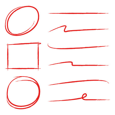 hand lettering underlines lines and circle markers