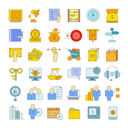 business and finance icons 일러스트