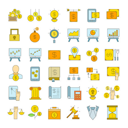 finance and investment icons Illustration