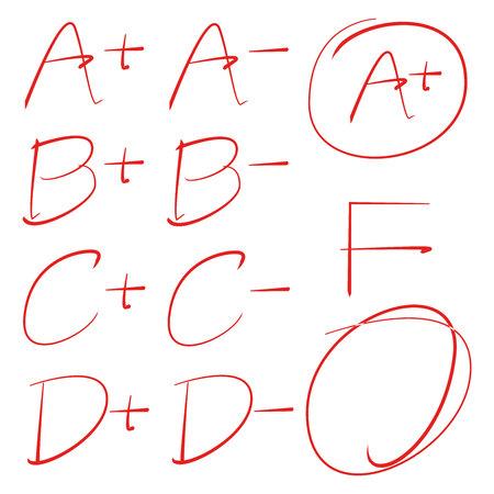 grade results  イラスト・ベクター素材
