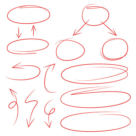 arrows and circles for process diagram