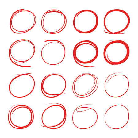 red circle for highlighting something Stock Vector - 103933321