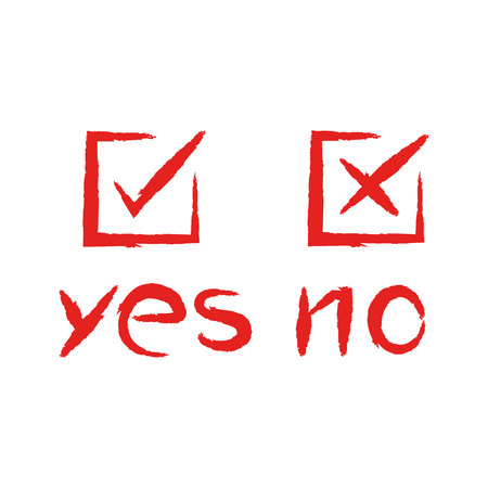 check mark for vote yes or no