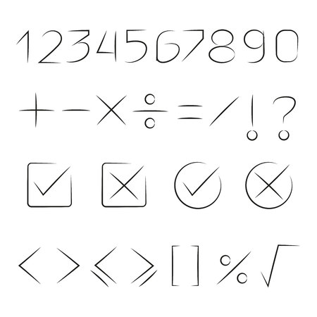 math signs and number Illustration