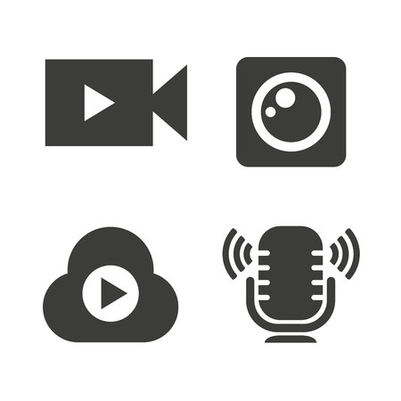 video camera icons, live icons