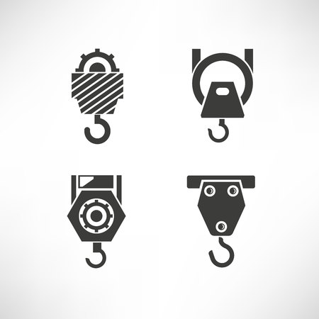 industrial hook icons Banque d'images - 103933398
