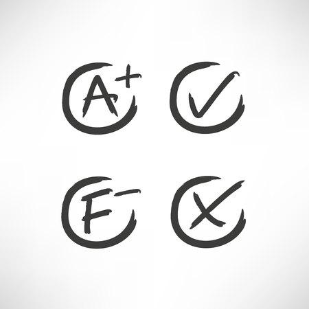 grade result and check mark