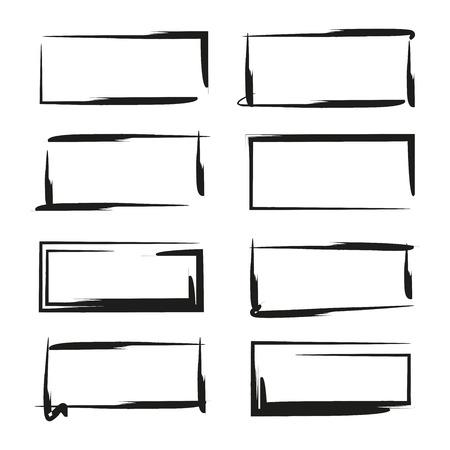 black grunge frames
