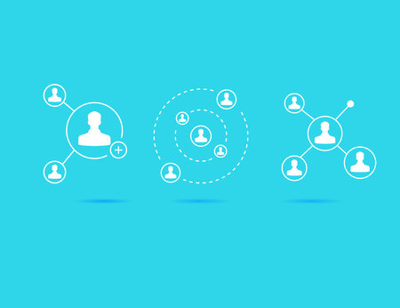 connecting people, Social network concept Vector