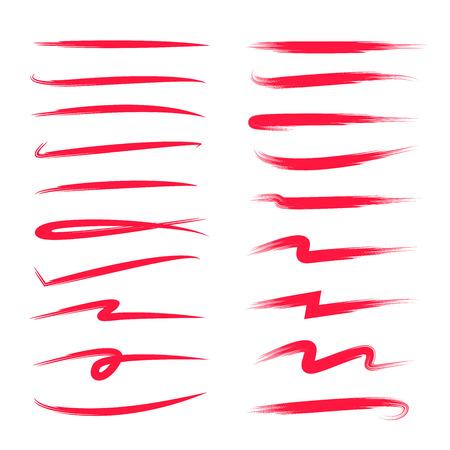 red grunge brush strokes