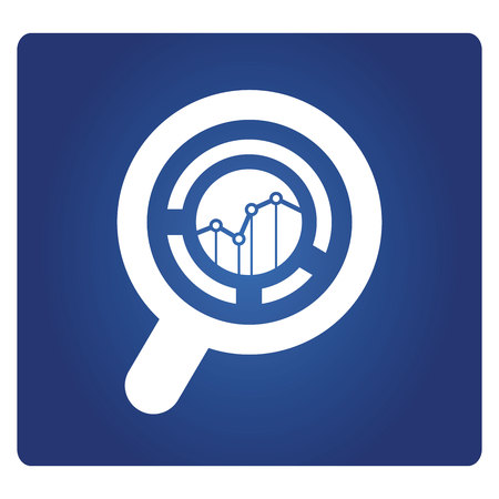 magnifier glass and graph, data analysis concept